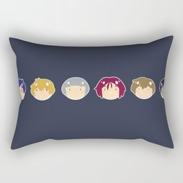 free! ball-faces Rectangular Pillow
