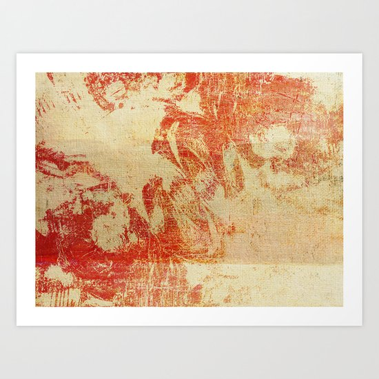 Red Clouds Art Print