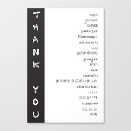 Multilingual Thank You Canvas Print