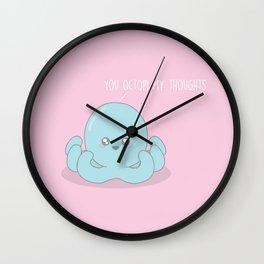 You Octopi My Thoughts #Kawaii #octopus Wall Clock