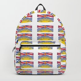 flag of british columbia -prairie,canadian, canada,vancouver,victoria,columbian. Backpack