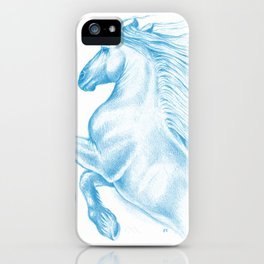 Horse In Blue iPhone Case