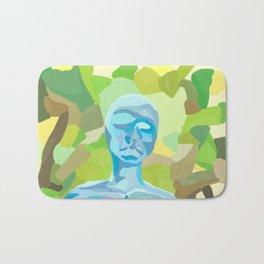 blue human green earth Bath Mat