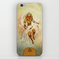 aang iPhone & iPod Skins featuring Air by Madalyn McLeod
