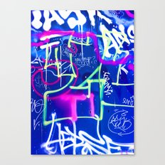 The Pink Language in Blue Mood. Canvas Print