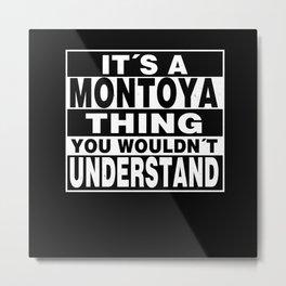 MONTOYA Surname Personalized Gift Metal Print