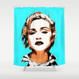 Blue Madonna Shower Curtain