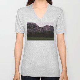Yosemite Sunset Unisex V-Neck