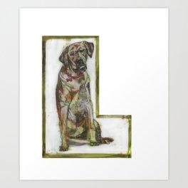 Alphabet Doggie Letters Art Print