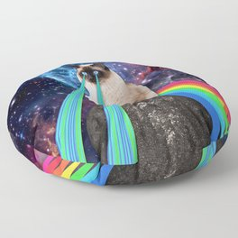 SIAMESE LASER CAT Floor Pillow