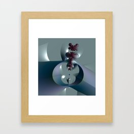Life sprouting in the silence of an abstract fantasy Framed Art Print