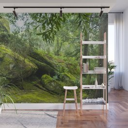 Green forest after raining II Wall Mural