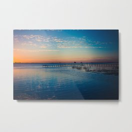 Peaceful sunset on the river Metal Print