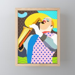 Saxophonist Framed Mini Art Print