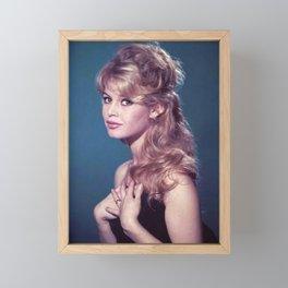 Brigitte Bardot poster, canavas Framed Mini Art Print