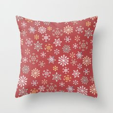 christmas snow Throw Pillow