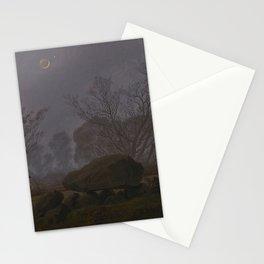 Caspar David Friedrich - Walk at Dusk (Man Contemplating a Megalith) (1830) Stationery Cards