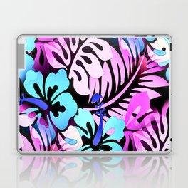 Hawaiian Flowered Shirt Print Pink Blue Laptop & iPad Skin