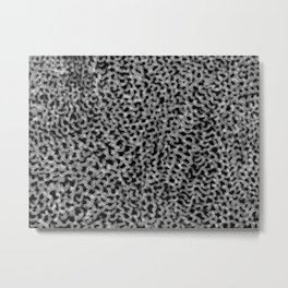 Abstract texture mesh net Metal Print