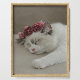 SLEEPY KITTY by Monika Strigel Serving Tray