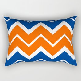 Big Chevron:  Blue + Orange Rectangular Pillow
