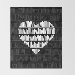 Book Lover Throw Blanket
