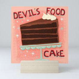 Devil's Food Cake An All American Classic Dessert Mini Art Print