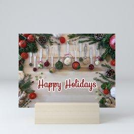 Happy holidays with spoons Mini Art Print