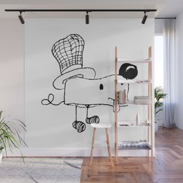Hat dog Wall Mural
