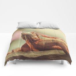 Chameleon an exotic beautiful animal Comforters