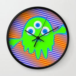 Radioactive Litte Monster Wall Clock