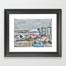 Getting Ready for Takeoff Framed Art Print