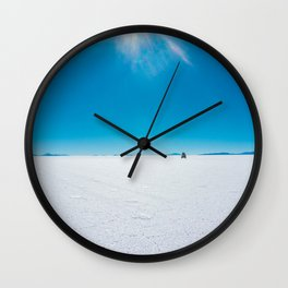 In the Distance, Salar de Uyuni, Bolivia Salt Flats Wall Clock