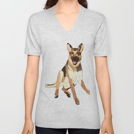 German Shepherd Unisex V-Neck