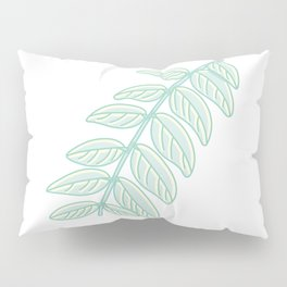 Pinnated Compound Leaves Illustration Pillow Sham