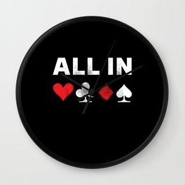 All in Poker | Funny Gambling Gift Wall Clock