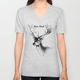 Deer with Antlers Unisex V-Neck