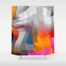 Extrusion III Shower Curtain