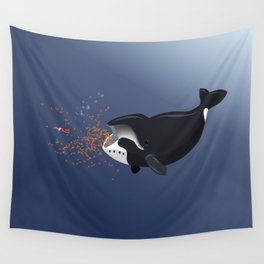 Pinocchio and the Bowhead whale Wall Tapestry