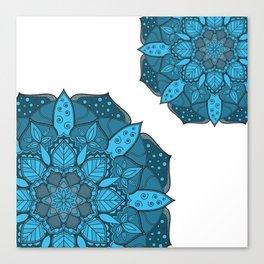 Blue Mandala design, Mandala texture, Simple design Canvas Print