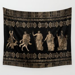 Greek Deities and Meander key ornament Wall Tapestry