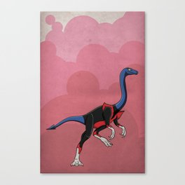 Nightcrawlimimus - Superhero Dinosaurs Series Canvas Print