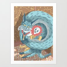 Gods and Monsters #11 - The Lynx! Art Print