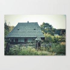 House in the mountains Canvas Print