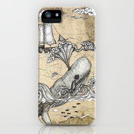 Vintage Whaler iPhone Case