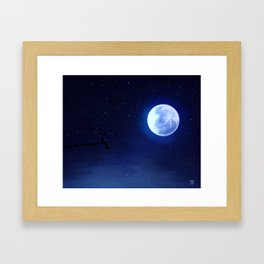 Jimin Serendipity Talking to the Moon Framed Art Print
