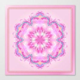 Wedding Day Pink Mandala Trendy Design, Holiday Decoration. Canvas Print