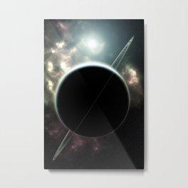 Ringed Planet Deep Space Metal Print
