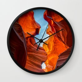 SAND & SKY PHOTO - ANTELOPE CANYON ARIZONA IMAGE - LANDSCAPE NATURE PHOTOGRAPHY Wall Clock
