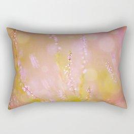 Subtle pink heather macro Rectangular Pillow